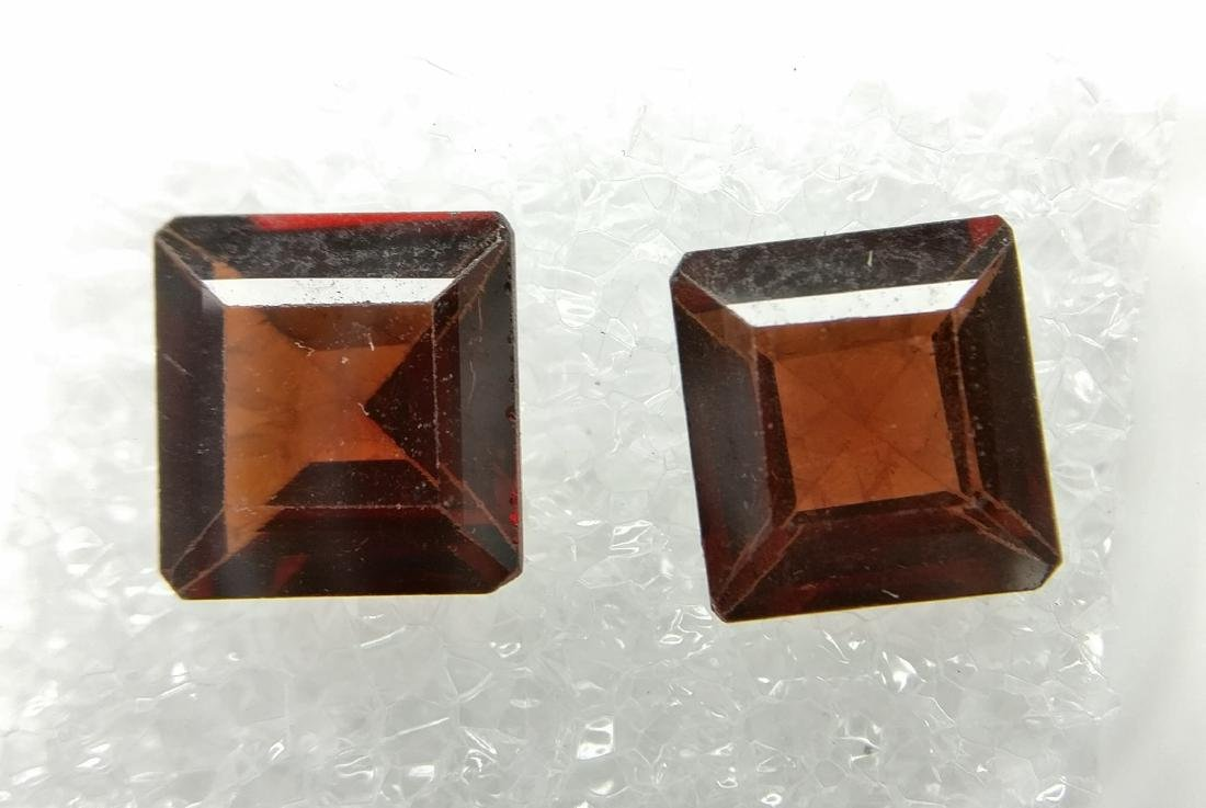Couple of 2 Pyrope/Spessartite Brownish Red 2.15 ct
