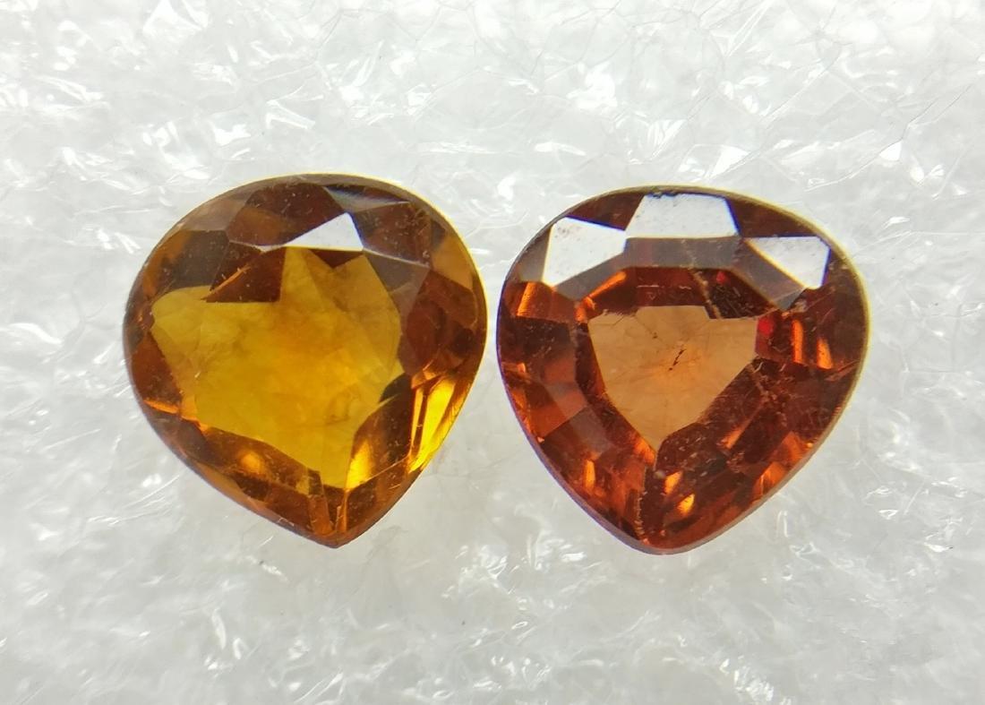 Couple of 2 Spessartite/Smokey Yellowish Brown to Brown