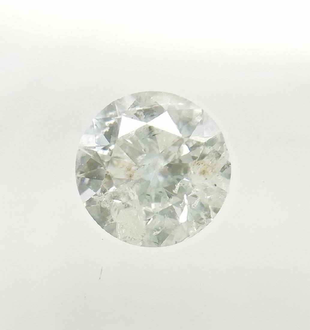0.50 ct Round cut diamond F I2