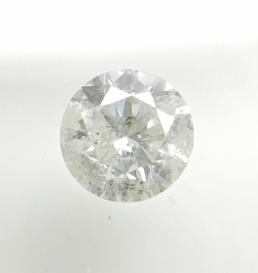 0.51 ct Round cut diamond F I2