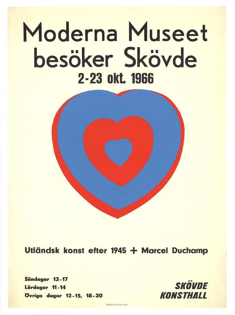 Marcel Duchamp Serigraph Moderna Museet (Heart)