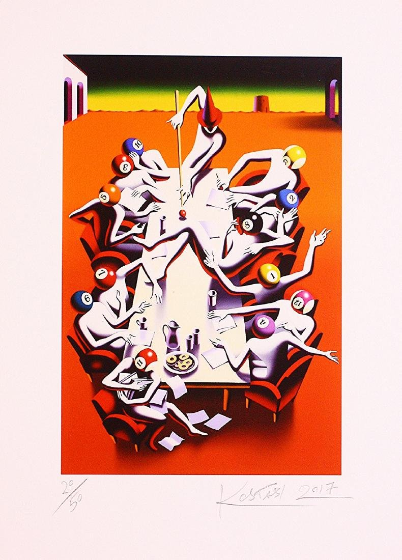 Mark Kostabi Hand Signed Limited Edition Print Power