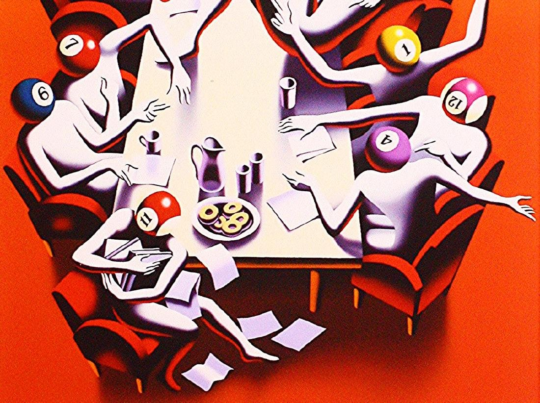Mark Kostabi Hand Signed Limited Edition Print Power - 2