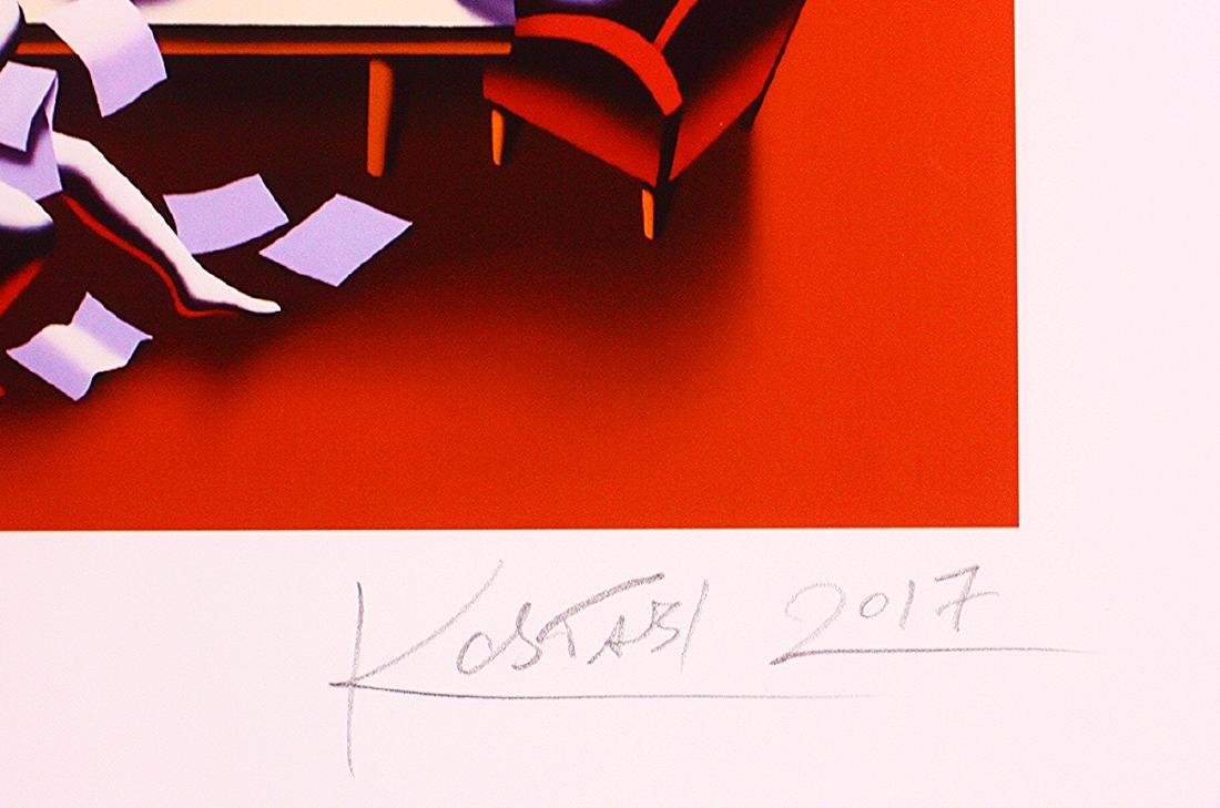 Mark Kostabi Hand Signed Limited Edition Print Power - 3