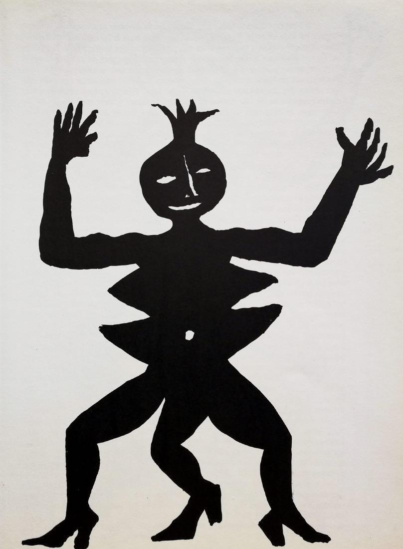Alexander Calder Limited Edition Print Black Figure 3