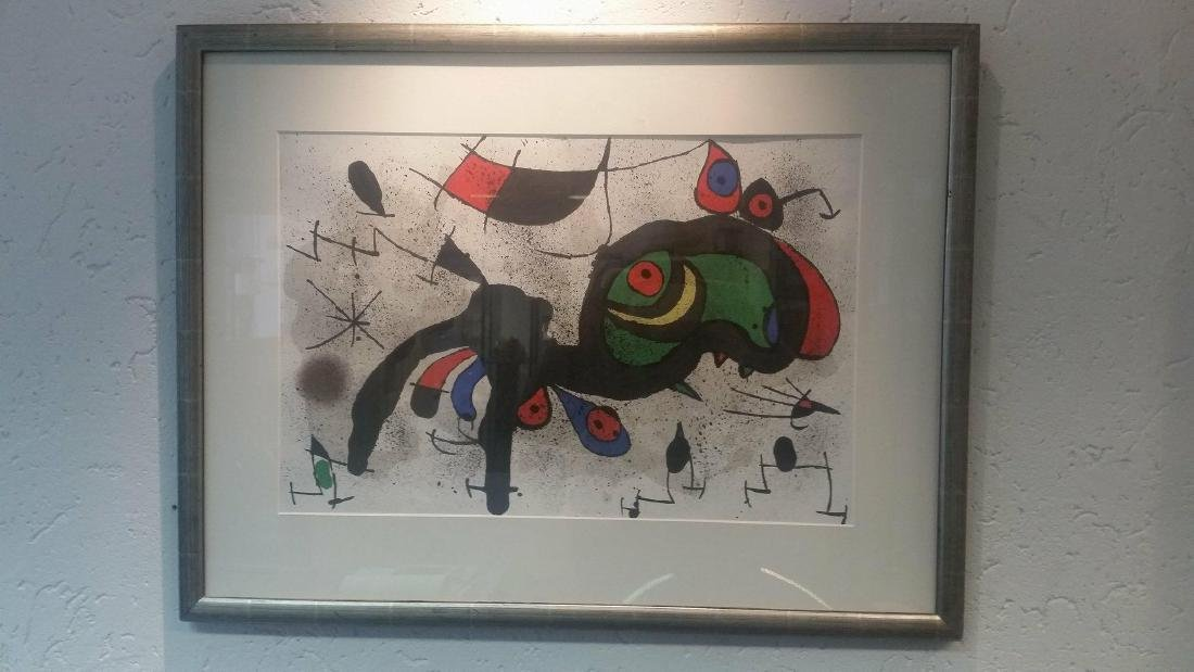 Joan Miro Lithograph Le Derriere Miroir