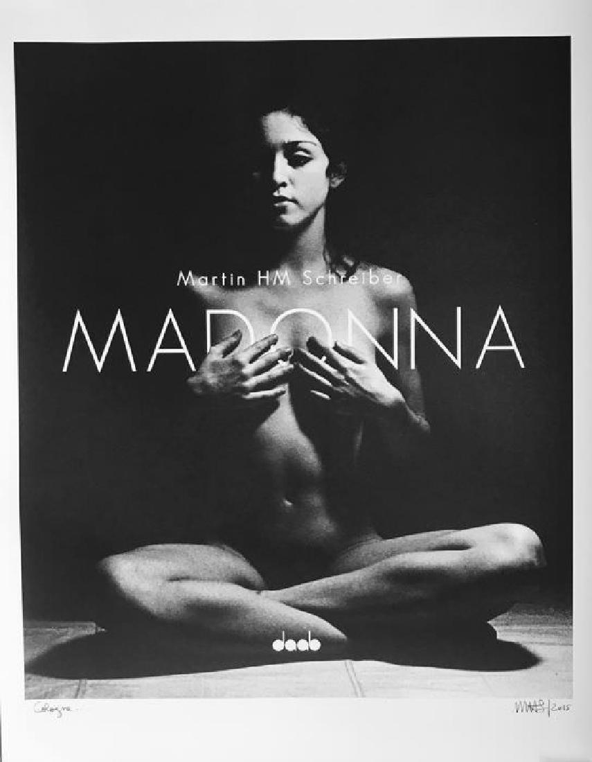 Martin Schreiber Madonna Hand Signed Exhibition Poster