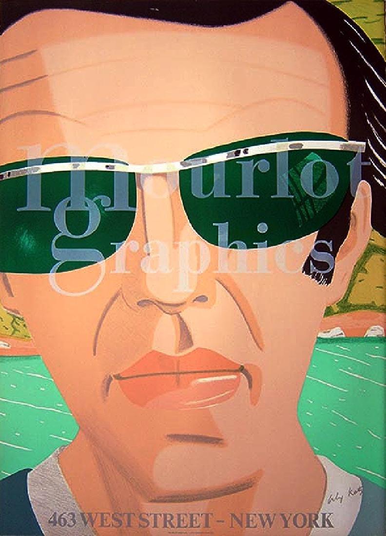 Alex Katz Exhibition Poster Self-Portrait & Sunglasses