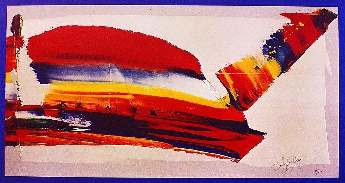 Paul Jenkins Hand-signed Lithograph Metamorphosis II