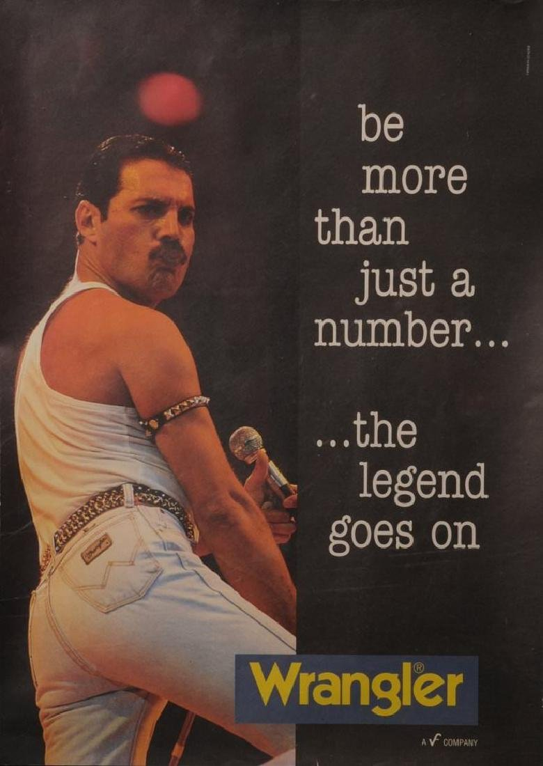 Freddie Mercury Unofficial Wrangler Jeans Poster