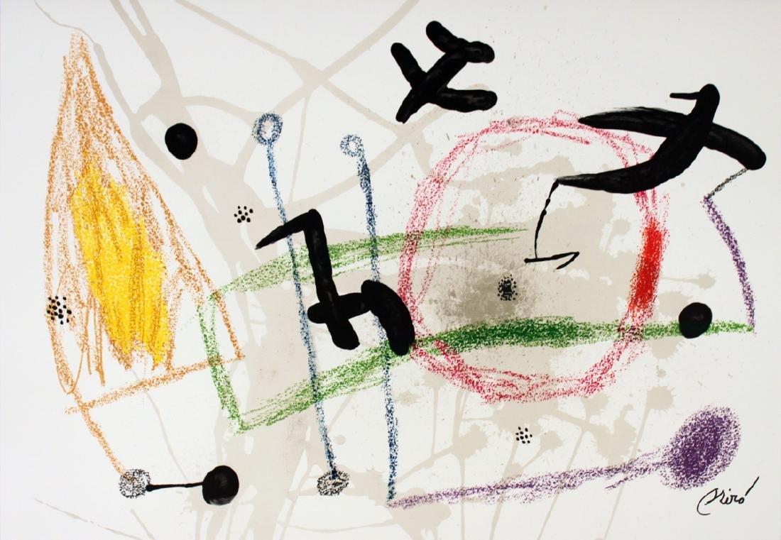 Joan Miro Lithograph Maravillas #1057