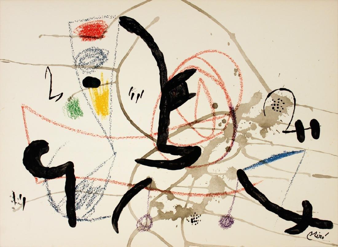 Joan Miro Lithograph Maravillas #1063