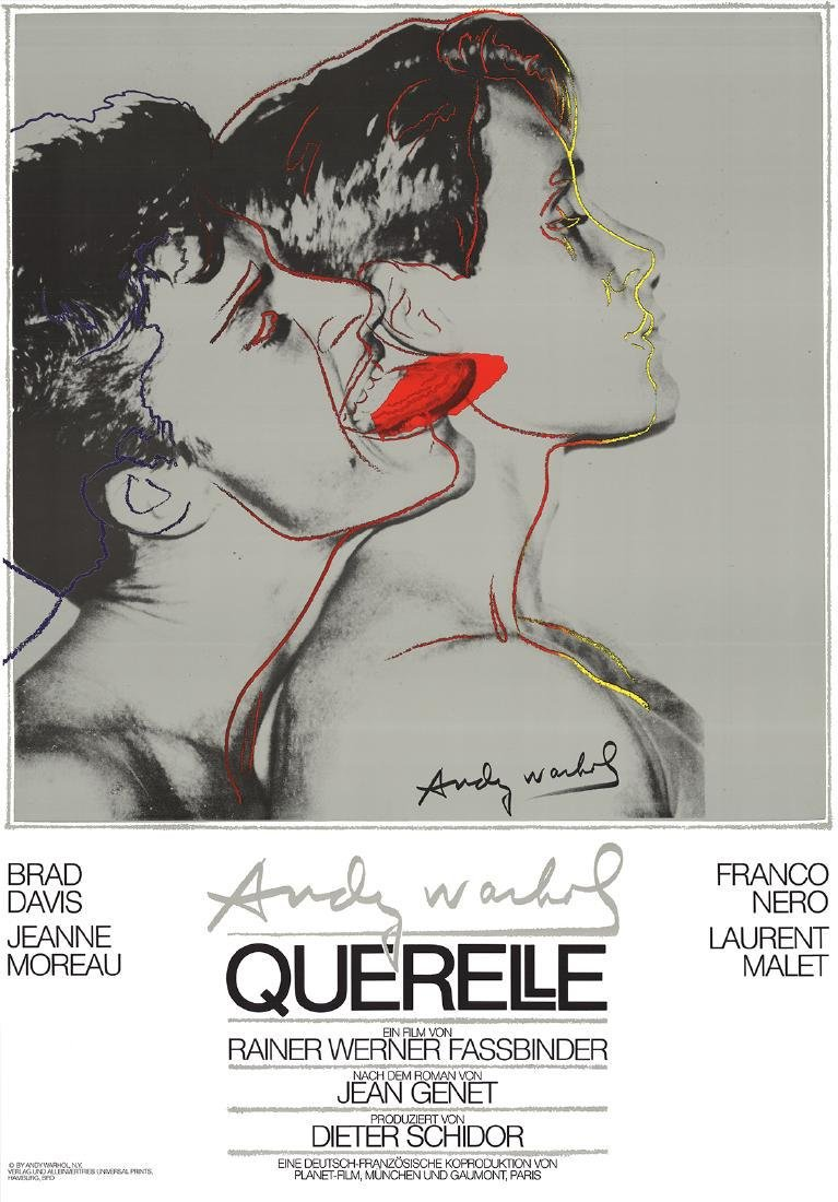 2 Assorted Andy Warhol Querelle Posters
