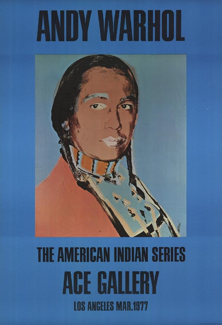 2 Assorted Andy Warhol American Indian Posters