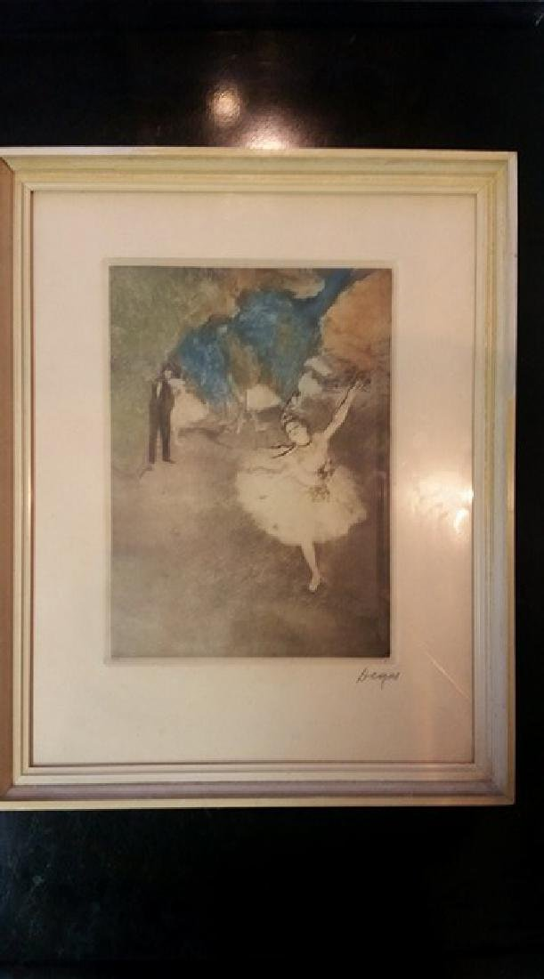 Edgar Degas Original Pencil Signed Lithograph The Star