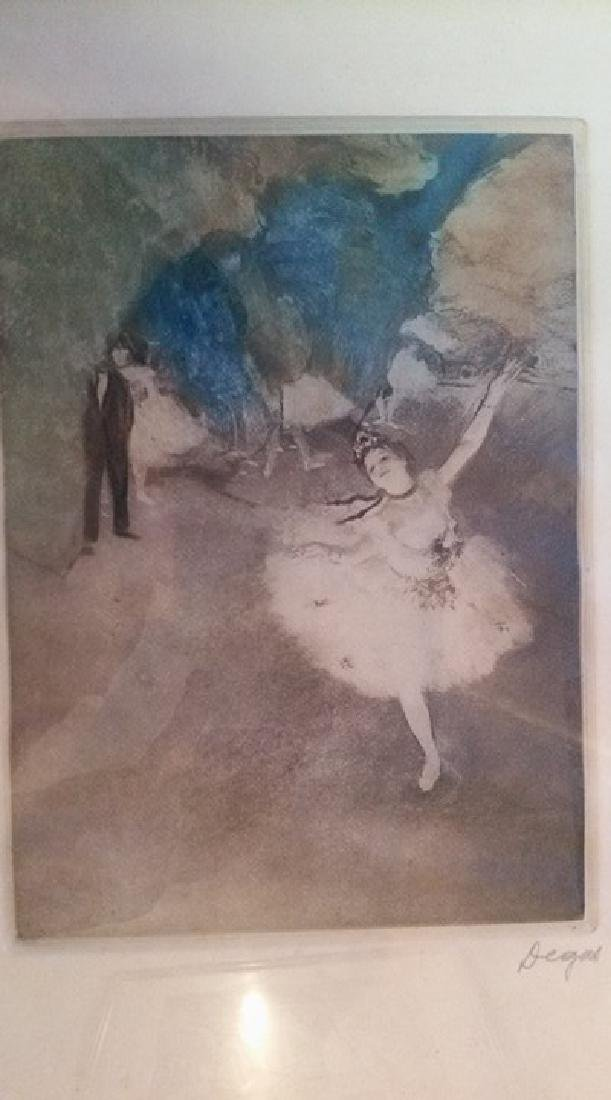 Edgar Degas Original Pencil Signed Lithograph The Star - 2