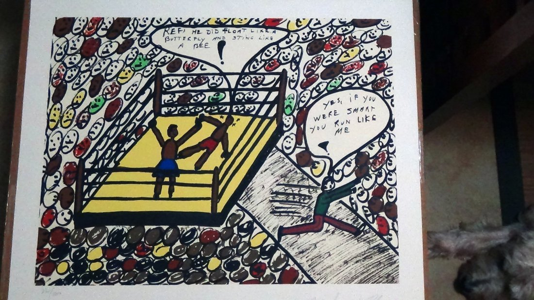 Muhammad Ali Limited Edition Lithograph Sting like Bee