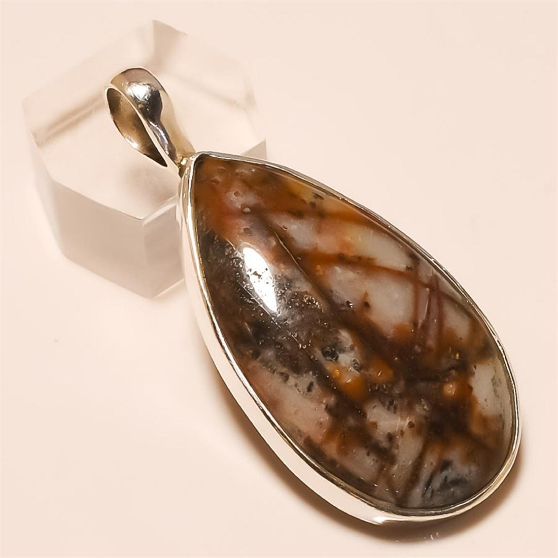 out back jasper Pendant Solid Sterling Silver
