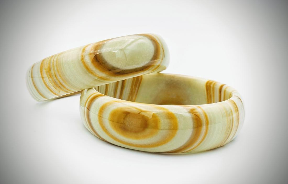 Set of Jasper Bangle Bracelets - 2