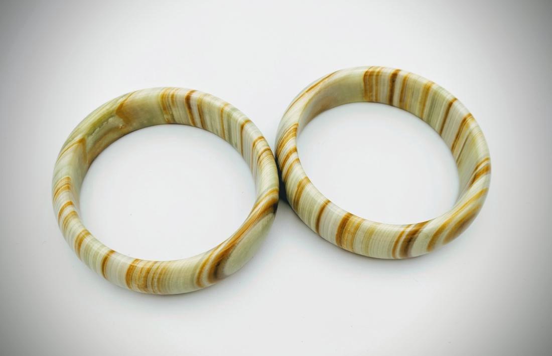 Set of Jasper Bangle Bracelets - 3