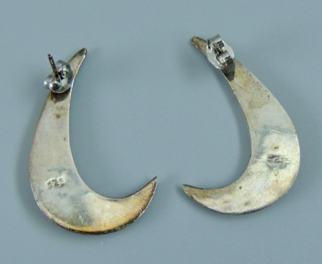 Vintage Sterling Silver Earrings - 5 pairs - 10