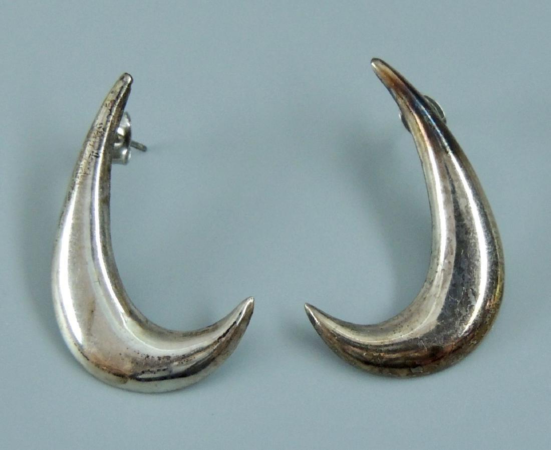 Vintage Sterling Silver Earrings - 5 pairs - 9