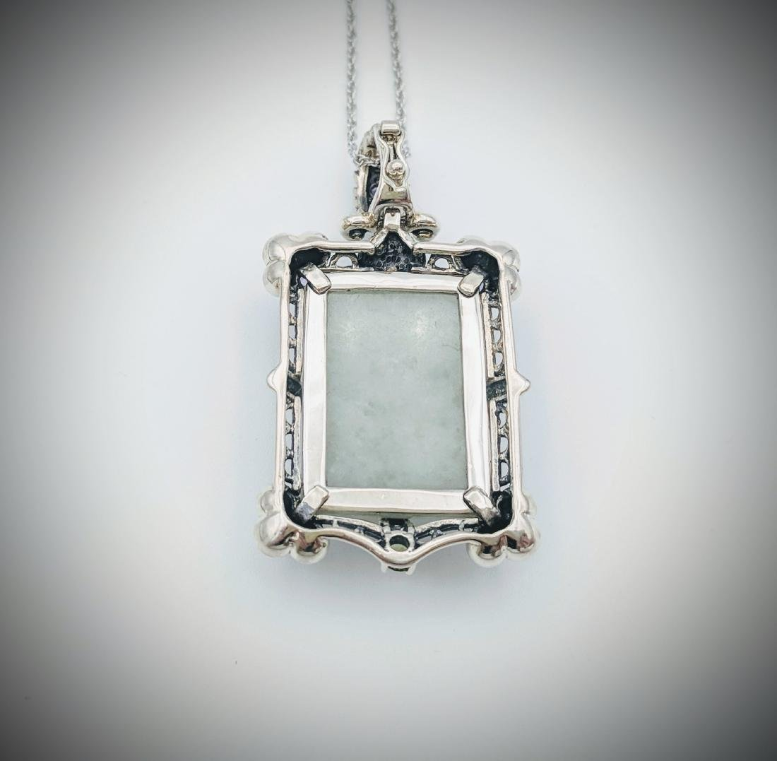 Sterling Silver Jade Topaz Amethyst Peridot Necklace - 4