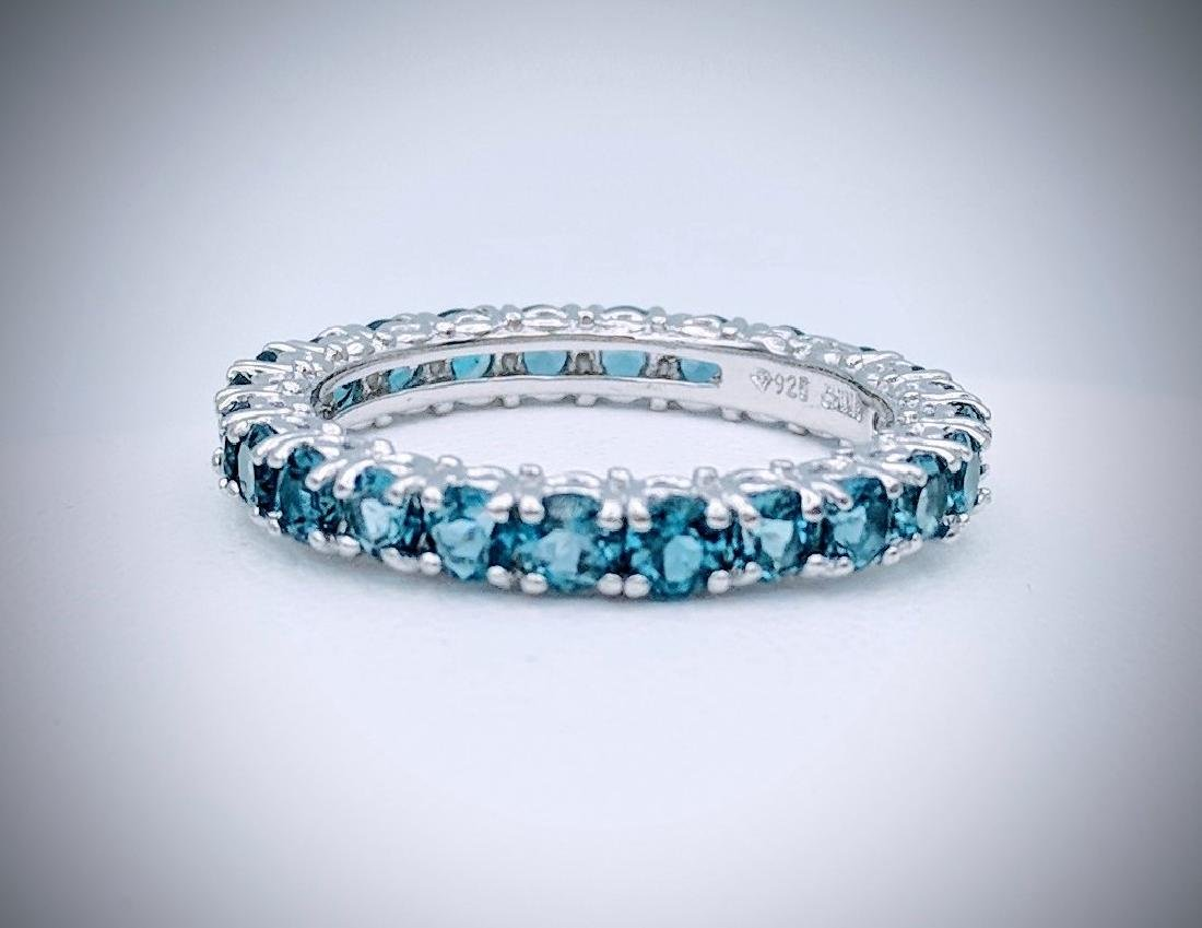 Sterling Silver Blue Topaz Eternity Ring, 2.64ctw