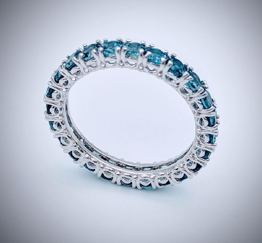 Sterling Silver Blue Topaz Eternity Ring, 2.64ctw - 2