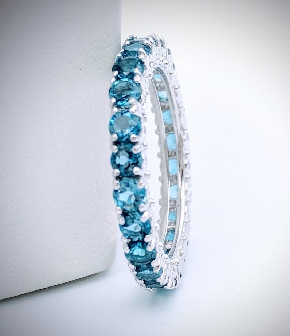 Sterling Silver Blue Topaz Eternity Ring, 2.64ctw - 3
