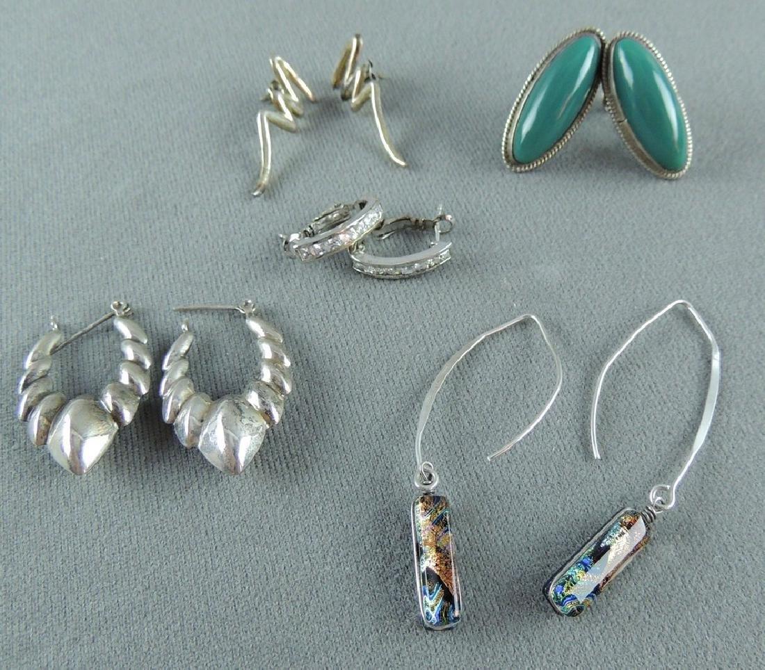 Vintage Sterling Silver Earrings - 5 pairs - 2