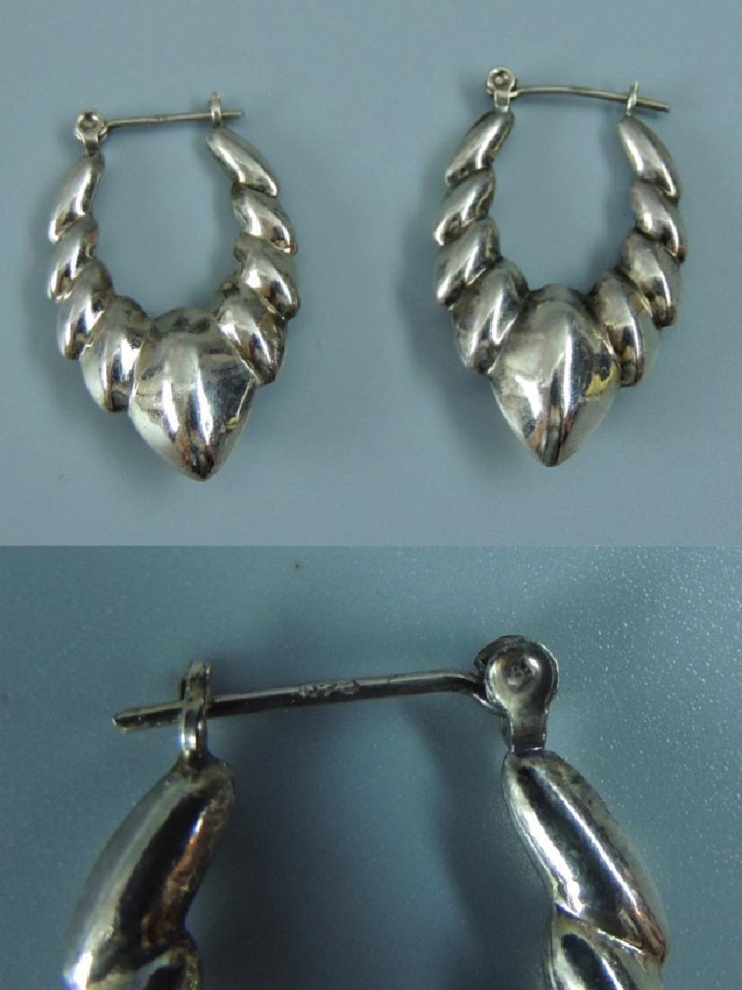 Vintage Sterling Silver Earrings - 5 pairs - 5