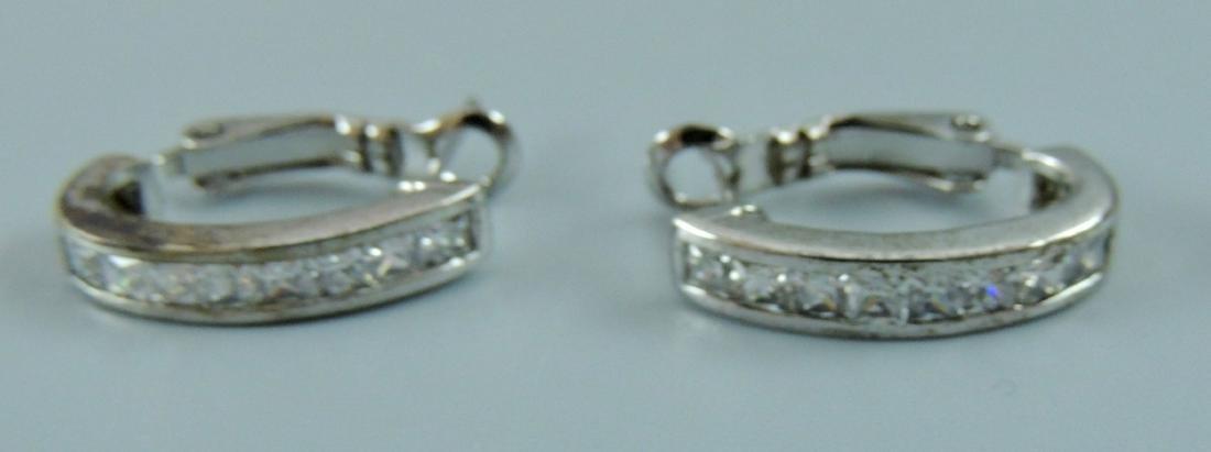 Vintage Sterling Silver Earrings - 5 pairs - 8