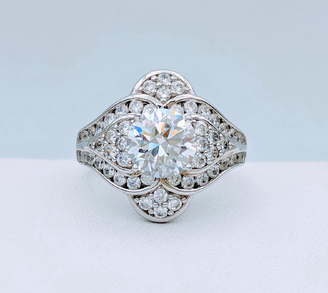 Sterling Silver Cubic Zirconia Ring, 1.54ctw