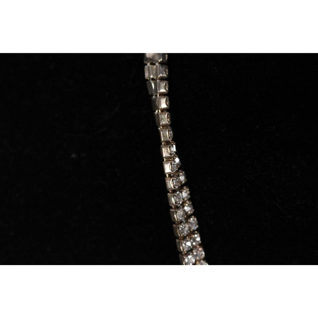 Vintage Pave Rhinestones V Shaped Necklace - 3
