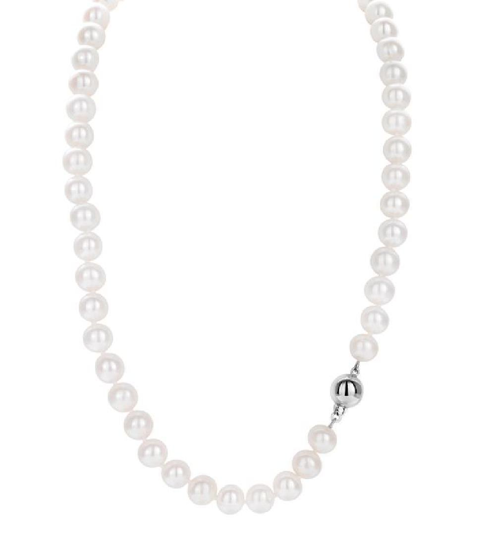 Freshwater Pearlset Containing Necklace, Bracelet and - 7