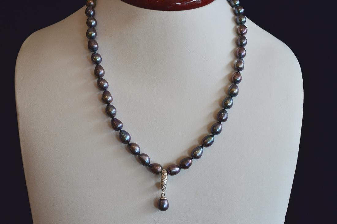 "Ladies 17"" Baroque South Sea Tahitian Pearl Necklace"