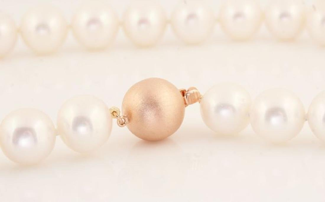 Lustrous 12x14mm Freshwater Pearl Necklace Set with a - 4
