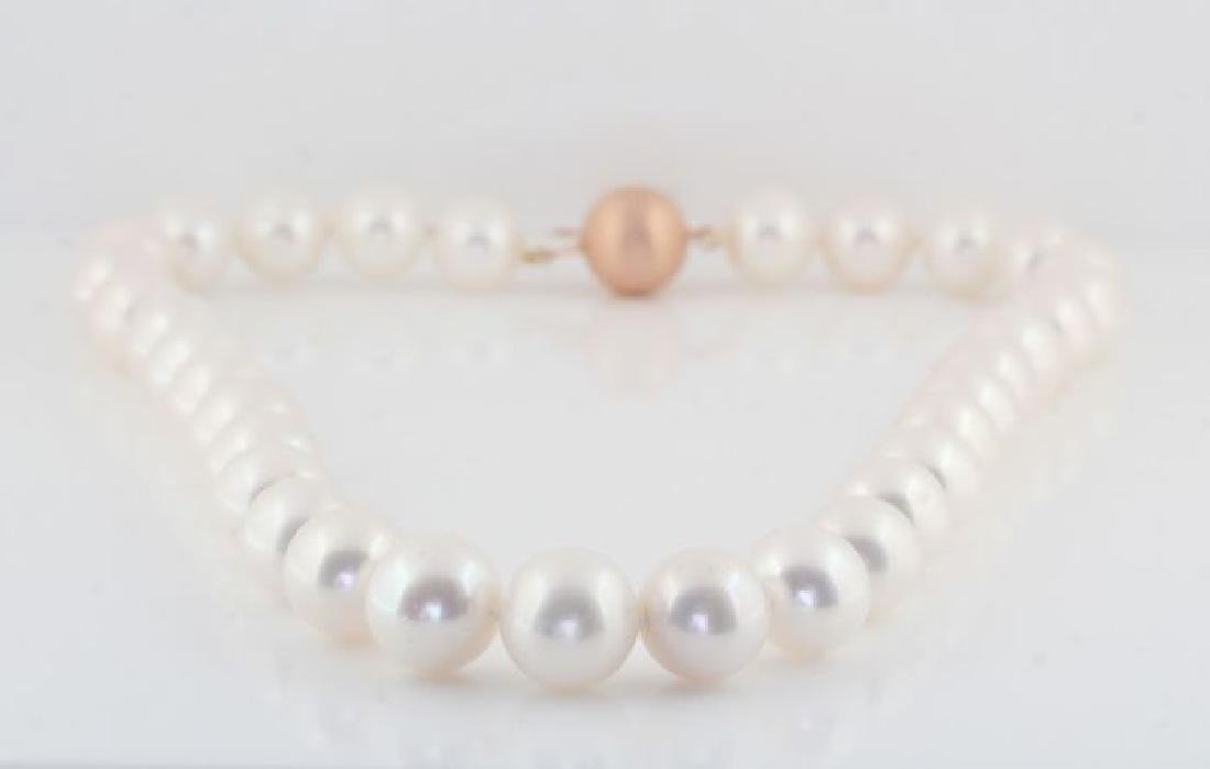 Lustrous 12x14mm Freshwater Pearl Necklace Set with a - 6
