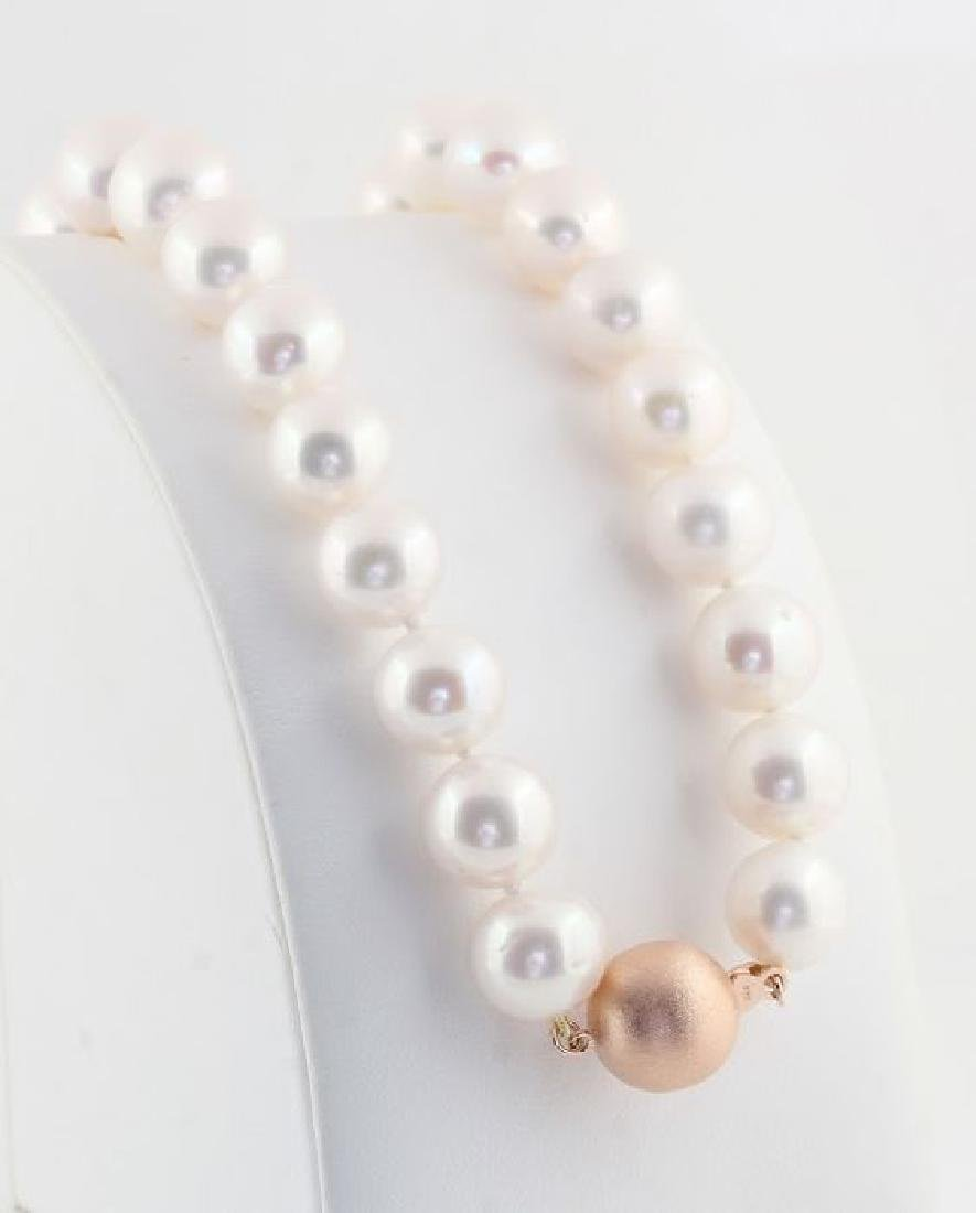 Lustrous 12x14mm Freshwater Pearl Necklace Set with a - 7