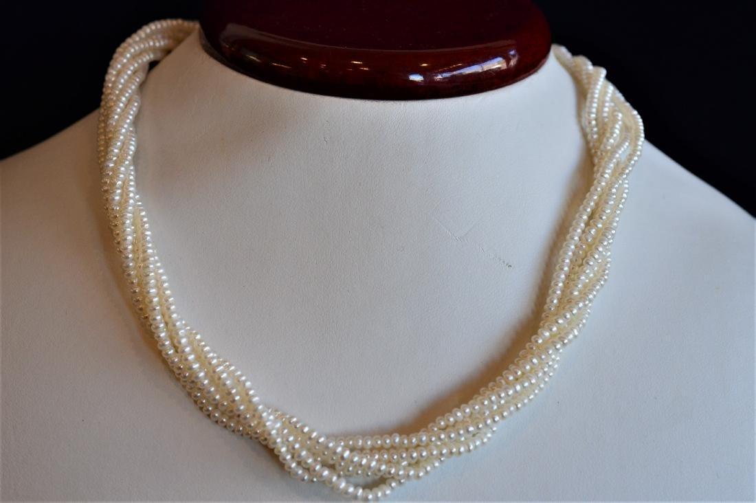 Timeless 14K Gold 6 Strand Pearl Multi-strand Necklace
