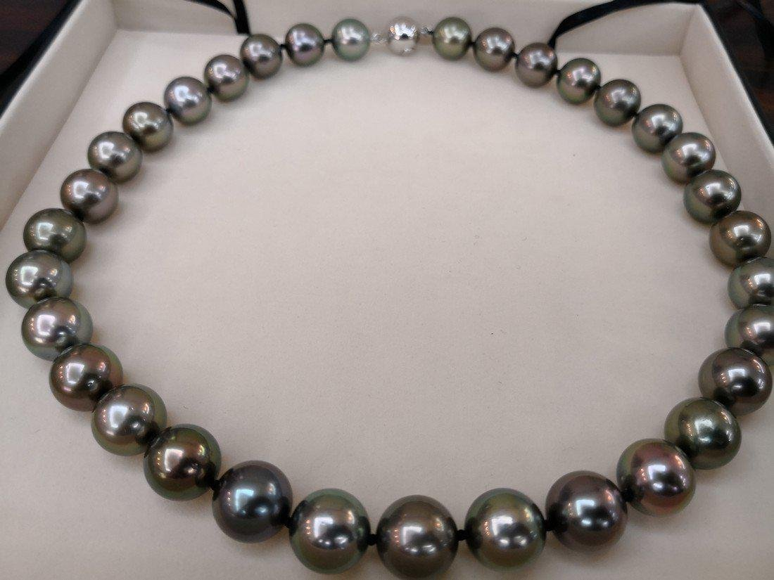 18K Gold Tahitian South Sea Pearl necklace - 2