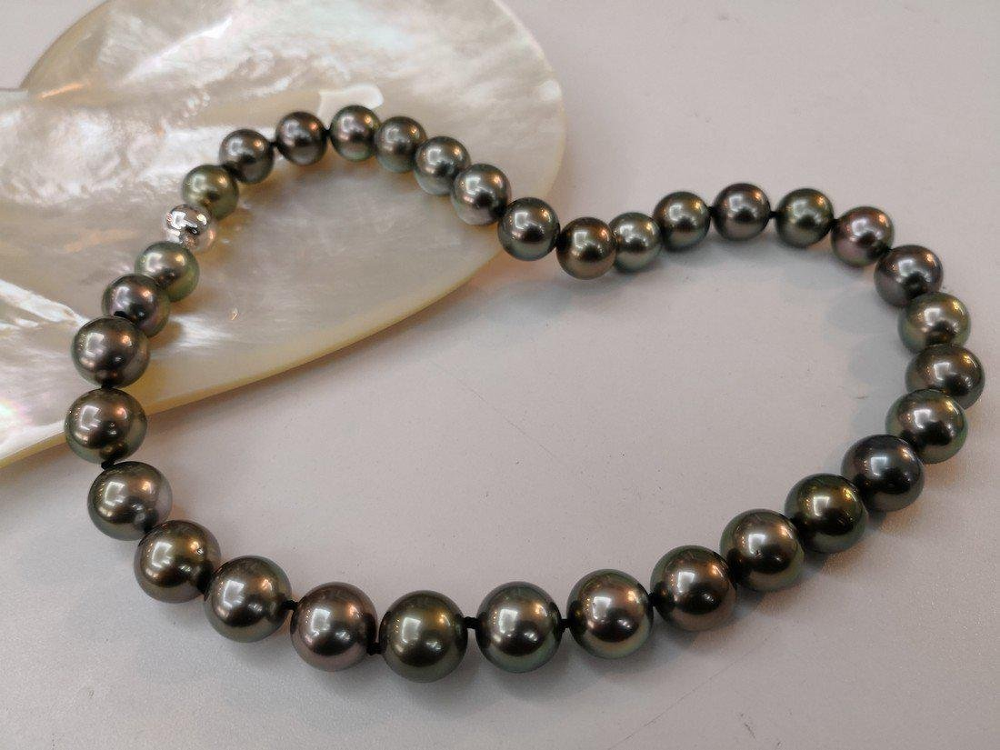18K Gold Tahitian South Sea Pearl necklace - 3
