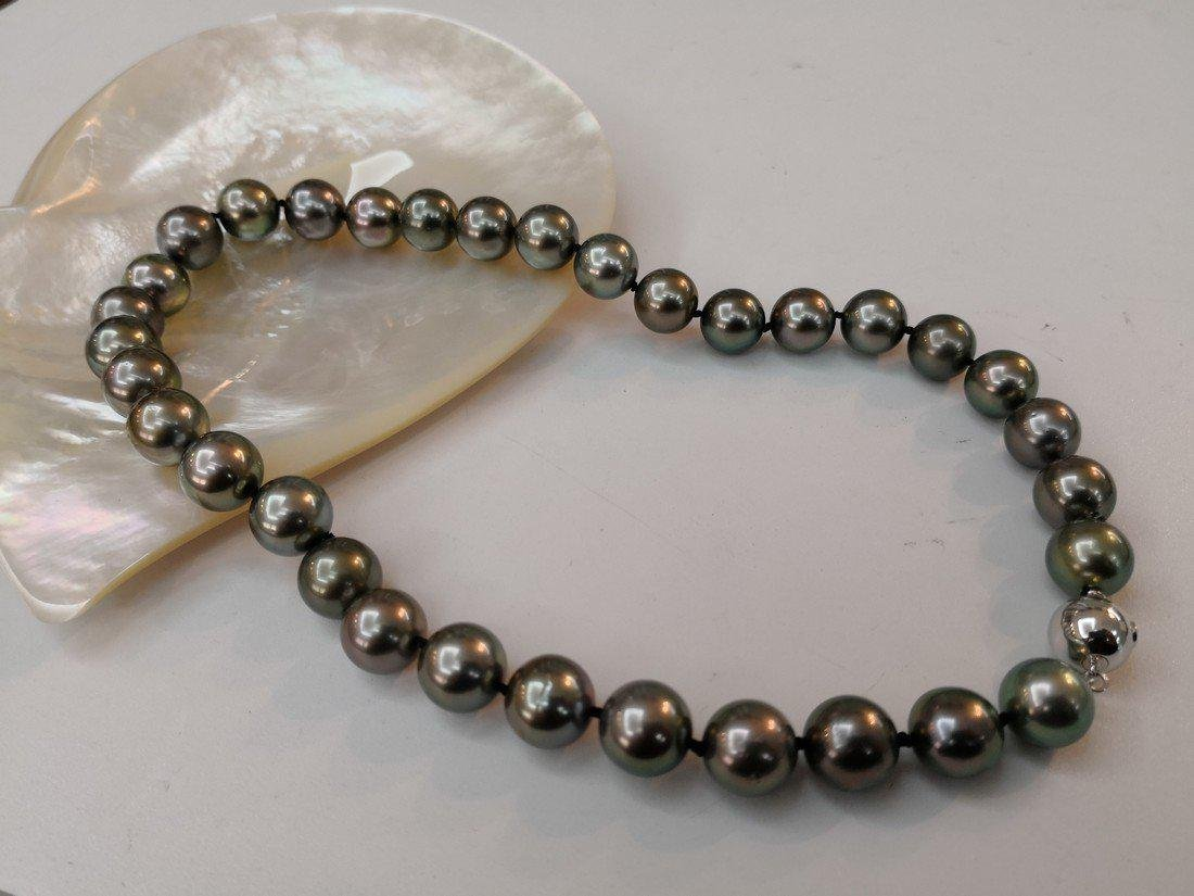18K Gold Tahitian South Sea Pearl necklace - 6