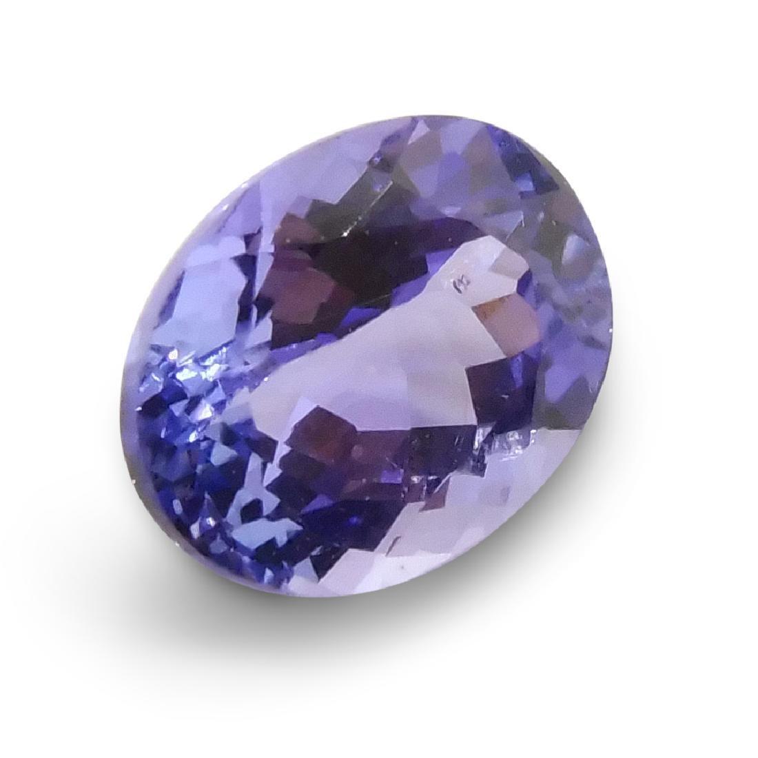 1.9 Carat Loose Oval IGI Certified Tanzanite - 3