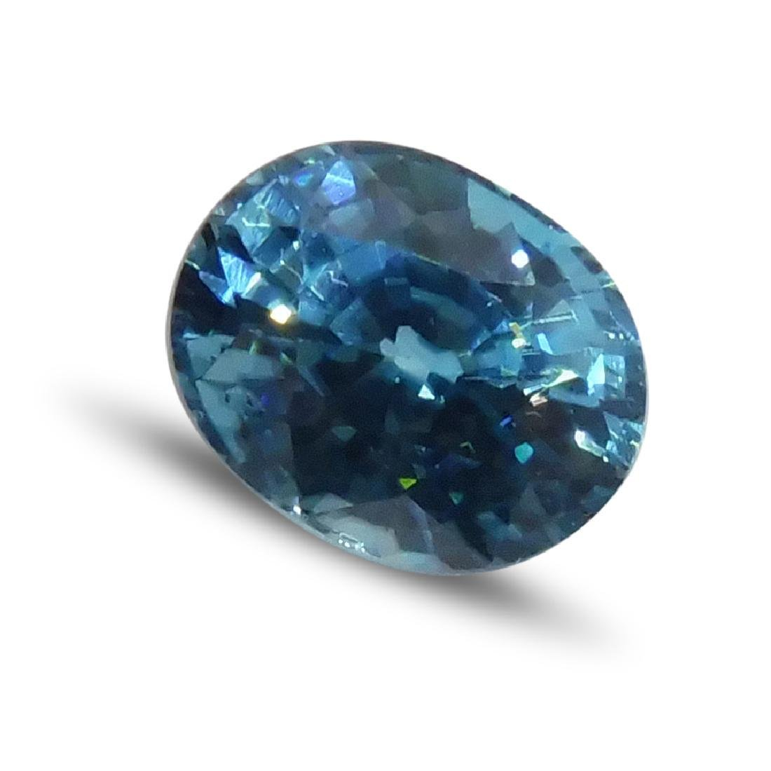 4.21 Carat Loose Oval Blue Zircon