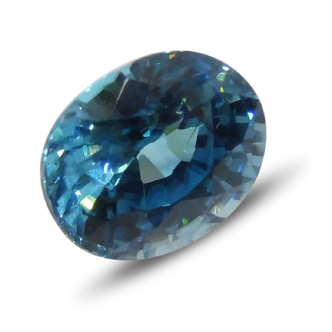 4.21 Carat Loose Oval Blue Zircon - 2
