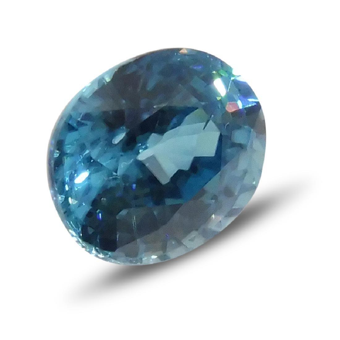 4.21 Carat Loose Oval Blue Zircon - 3