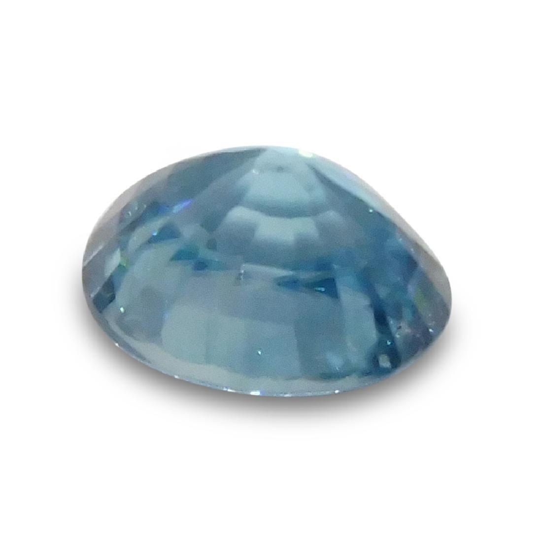 4.21 Carat Loose Oval Blue Zircon - 4