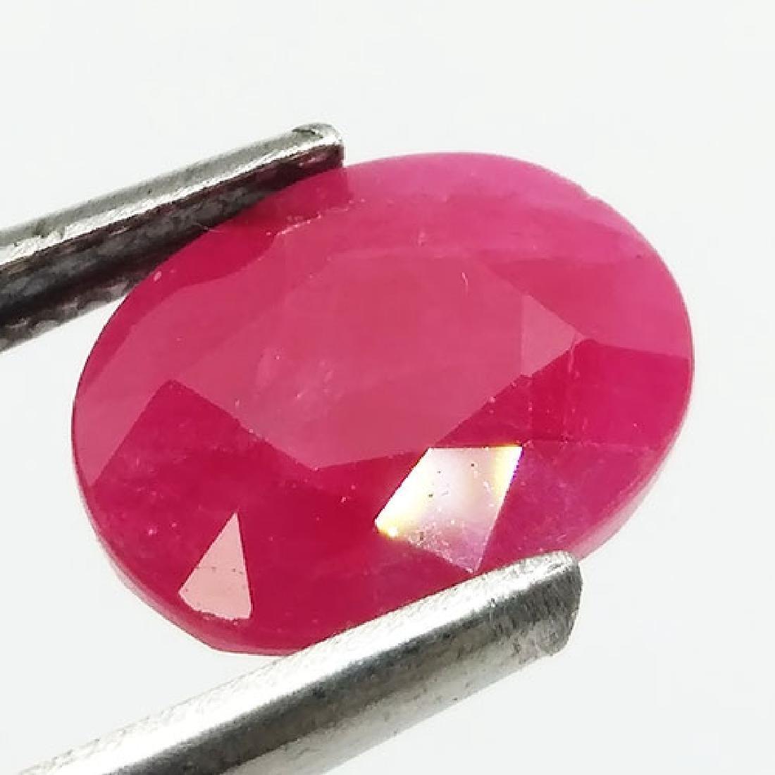 4.05 Carat Loose Natural Red Ruby African Origin